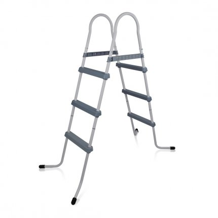 yourGEAR Poolleiter PL90 3-stufige Pooltreppe Schwimmbadleiter Schwimmbad Einstieg Leiter Treppe bis 90cm Pool Wandhöhe