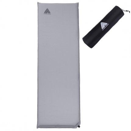 10T Tom 600 - Selbstfüllende Iso-Matte mit Kunststoffventil grau TPU-Beschichtung 193x63x6cm