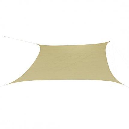 10T Patterson 500 - Quadratisches Sonnensegel Tarp 500cm Strickgewebe 90% UV-Schutz