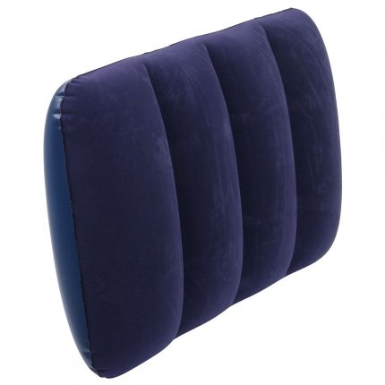 Jilong I-Beam Pillow - Luft-Kissen, Reisekissen, aufblasbar, Velours, blau, variable Höhe 48x34cm