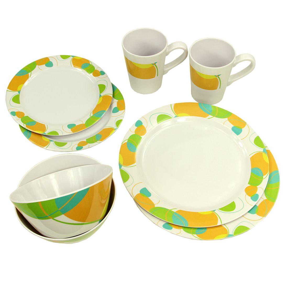 10t Arvon Dinnerware 8 Teiliges Melamine Geschirr 2 Becher 4 Teller In 2 Grossen 2 Schusseln Campout