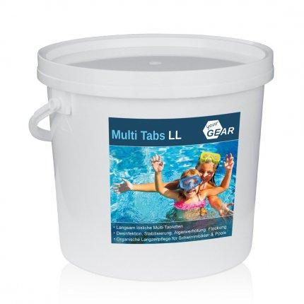 yourGEAR 3 kg Multi Tabs LL - 200g Chlor Tabletten Algenverhütung pH Stabilisierung Flockung Kristallklar