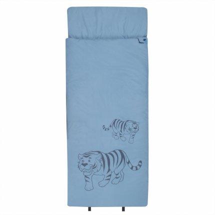 10T Tiger - XL Kinder Decken-Schlafsack 180x75cm, Motiv Tiger, warme 300g/m² Füllung
