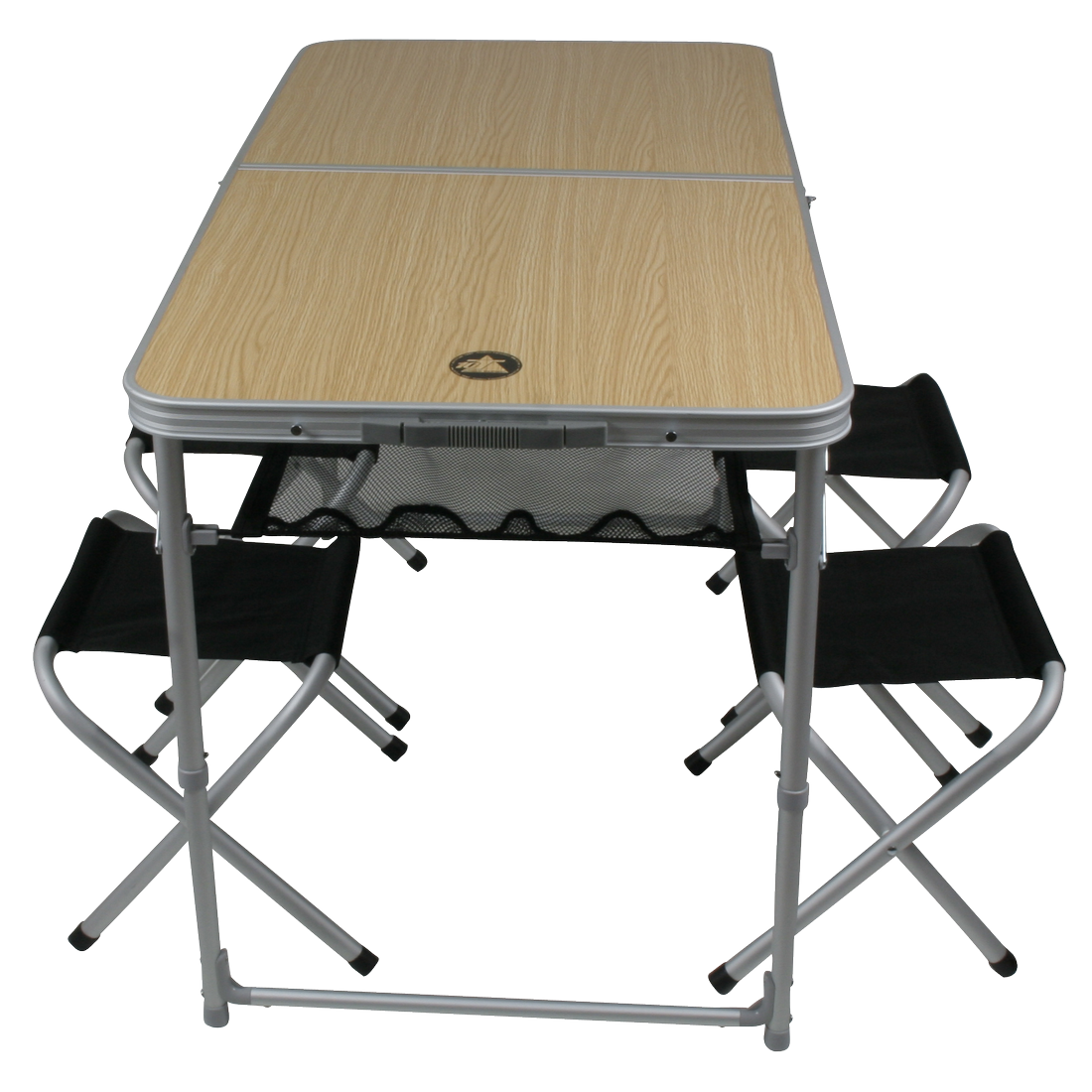 Tisch-Hocker-Set Portable Family 4 Mann Alu Campingtisch Picknick Tisch Hocker