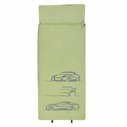 10T Car - XL Kinder Decken-Schlafsack 180x75cm, Motiv Auto, warme 300g/m² Füllung