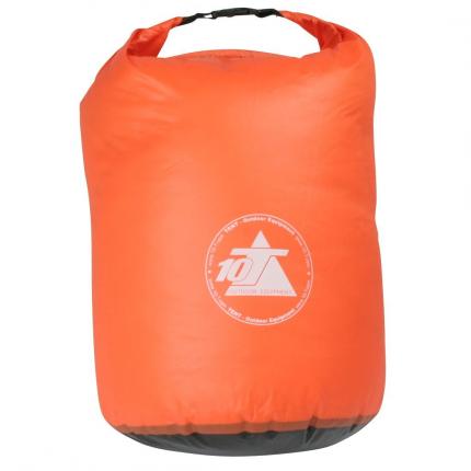 10T WPD 35 - Packsack 35L wasserdicht leichte Ausführung mit Tragegriff orange Ø35x60cm