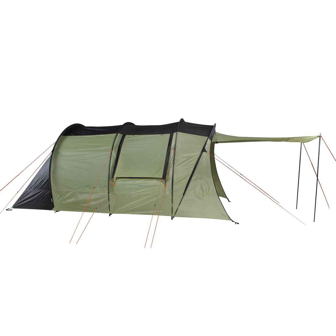 10T Stockholm 5 person tunnel tent, waterproof 5000mm family tent XXL, sleeping cabin, awning