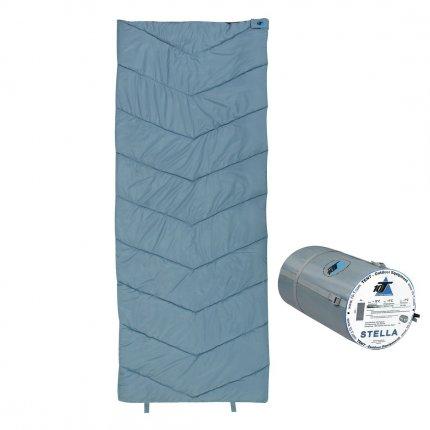 10T Stella - XL Decken-Schlafsack bis -7°C ohne Kapuze, 200x80 cm, 1200g leicht, 2-3 Jahreszeiten, Camping & Trekking