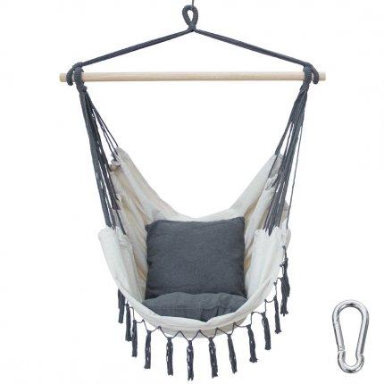 yourGEAR Elba XL - Hängesessel mit 2 Kissen Sitz-Hängematte max 240kg Hängesitz Hängeschaukel 360° Swing Chair