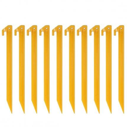 10T PEG IT 10TH 30ABS - ABS Kunststoff Zelthering, T-Profil, Set mit 10 Stück, Erdanker 300x20x20 mm