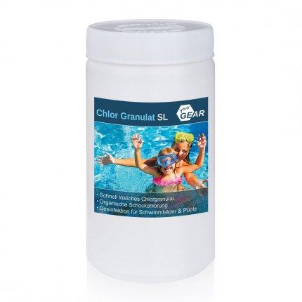 yourGEAR 1 kg Chlorgranulat SL - 56% Aktiv-Chlor schnelllöslich wirkt gegen Algen Bakterien Pilze und Viren