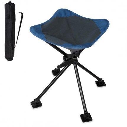 yourGEAR Camping-Hocker Sesto - stabiler Vierbein Hocker mit großer und bequemer Sitzfläche, bis 120kg belastbar