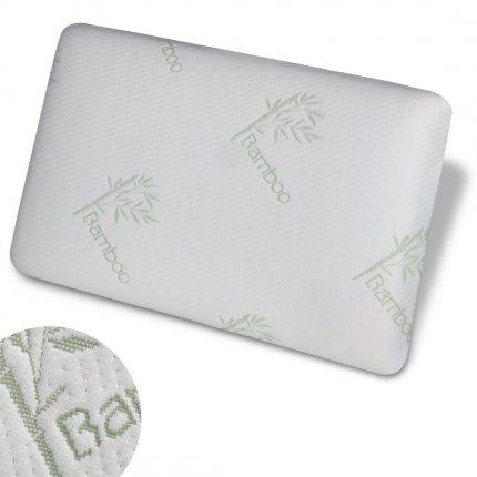 yourGEAR Bamboo Memory Foam Kissen - Kopfkissen 60x40x13 cm mit Visco-Vollschaum & allergikerfreundlichem Bezug