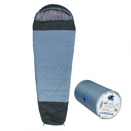 10T Jarrah - Mumien-Schlafsack bis -16°C mit Kapuze, 230x85 cm, 1800g leicht, 3 Jahreszeiten, Camping & Trekking