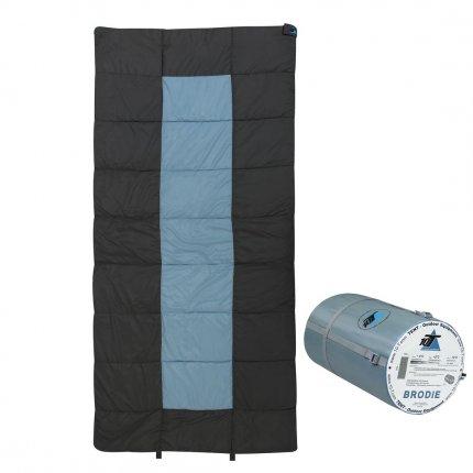 10T Brodie - XXL Decken-Schlafsack bis -13°C ohne Kapuze, 200x100 cm, 2000g leicht, 3 Jahreszeiten, Camping & Trekking