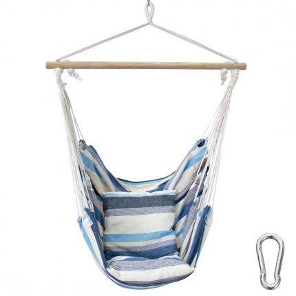 yourGEAR Lombok Aqua - Hängesessel mit 2 Kissen Sitz-Hängematte max 240kg Hängesitz Hängeschaukel 360° Swing Chair