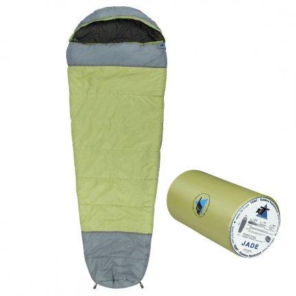 10T Jade - Mumien-Schlafsack bis -16°C mit Kapuze, 230x85 cm, 1800g leicht, 3 Jahreszeiten, Camping & Trekking