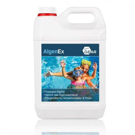 yourGEAR 3 L AlgenEx - Algenverhüter Konzentrat, schaumfreies Algenmittel für klares Pool & Schwimmbad Wasser