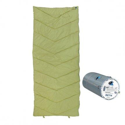 10T Seth - XL Decken-Schlafsack bis -7°C ohne Kapuze, 200x80 cm, 1200g leicht, 2-3 Jahreszeiten, Camping & Trekking