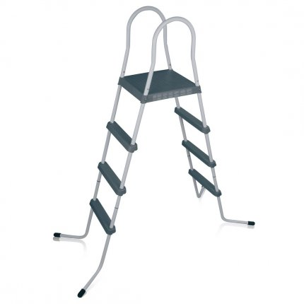 yourGEAR Poolleiter PL122 4-stufige Pooltreppe Schwimmbadleiter Schwimmbad Einstieg Leiter Treppe bis 122cm Poolwandhöhe
