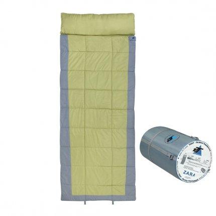 10T Zara - XXL Decken-Schlafsack bis -19°C mit Kopfkissen Kapuze, 230x90 cm, 2250g leicht, 3-4 Jahreszeiten, Camping &