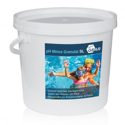 yourGEAR 7 kg pH Minus Granulat SL schnelllöslicher pH Senker zur optimalen ph-Wert Stabilisierung des Pool-Wassers