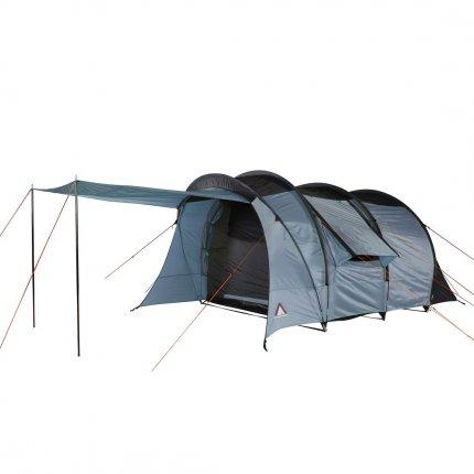 10T Paris 4 - 4 Personen Tunnelzelt, Campingzelt mit riesiger 8,2 m² XXL Schlafkabine, wasserdichtes Familienzelt mit