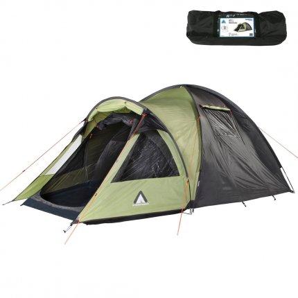 10T Zelt Glenhill Beechnut 3 Mann Kuppelzelt FULL-XXL Schlafkabine wasserdichtes 5000mm Campingzelt