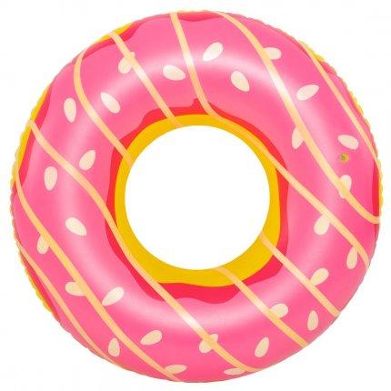 Jilong Schwimmring Big Pink Donut XL Wasserspielzeug Sitzreifen Poolsessel Schwimmsitz Ø 110x30 cm