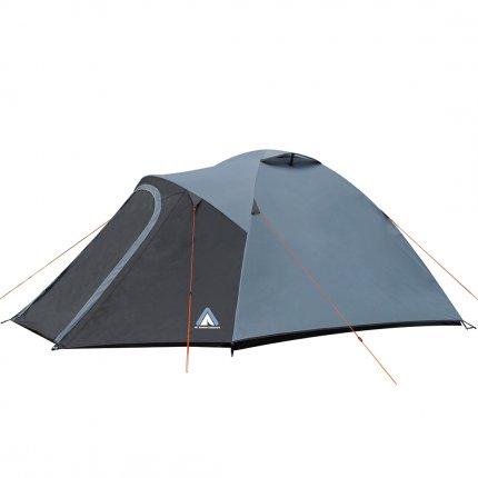10T Bordeaux 4 - 4 Personen Kuppelzelt, Campingzelt mit großer Schlafkabine, wasserdichtes Trekking Zelt mit 5000mm,