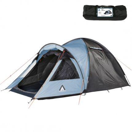 10T Glenhill 3 Arona - 3 Personen Kuppelzelt, Campingzelt mit riesiger XXL Schlafkabine, wasserdichtes Trekking Zelt mit