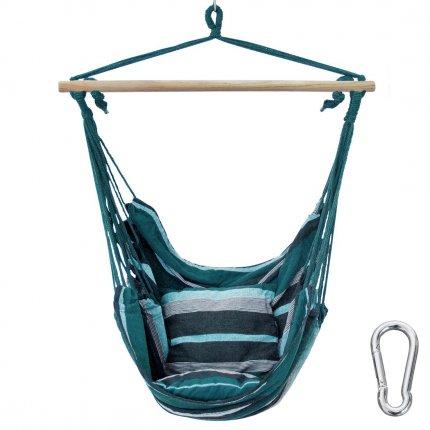 yourGEAR Lombok Smaragd - Hängesessel mit 2 Kissen Sitz-Hängematte max 240kg Hängesitz Hängeschaukel 360° Swing Chair