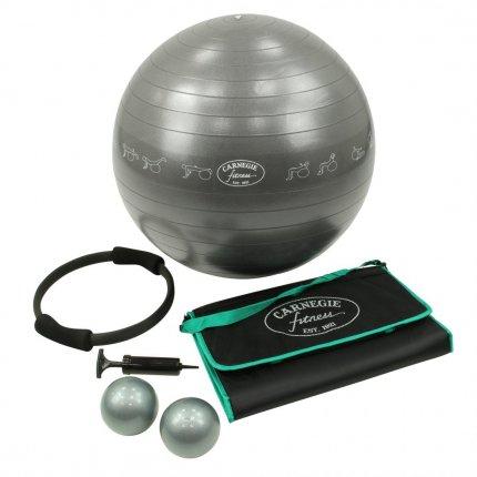 Carnegie Fitness Set Gymnastikball, Gewichtsbälle, Yoga-Matte & Pumpe - Für das tägliche Workout