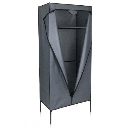 yourGEAR Kleiderschrank Grado - Stoffschrank 75 x 45 x 175 cm Schrank mit Kleiderstange und 2 Ablagefächer