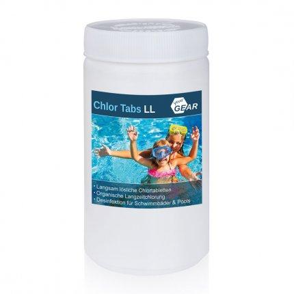yourGEAR 1 kg Chlor Tabs LL - 20g Chlortabletten, langsamlösliche Tabletten mit 92% Aktiv-Chlor zur Pool Desinfektion