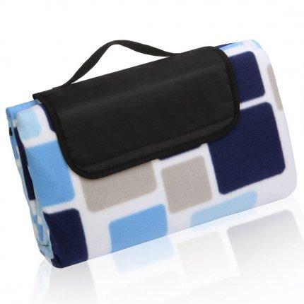 yourGEAR Cube XL Picknickdecke 200x200 Camping Fleece Decke wasserdichte & isolierte Stranddecke
