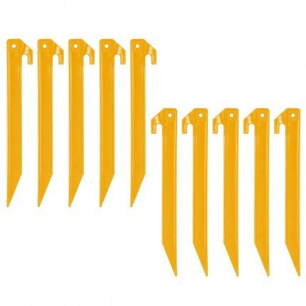 10T PEG IT 10TH 22ABS - ABS Kunststoff Zelthering, T-Profil, Set mit 10 Stück, Erdanker 220x20x20 mm