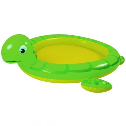 Blueborn Kids Pool Turtle Spray - Kinderpool, Planschbecken mit Spritzfunktion (Gartenschlauch)