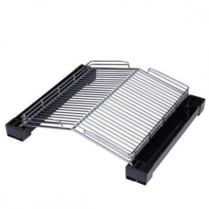 GreenBBQ Grill-Aufsatz - patentierter Grillrost - gesünder, fast rauchfrei & kein Fettbrand - Bratrost Fläche 285x265 mm