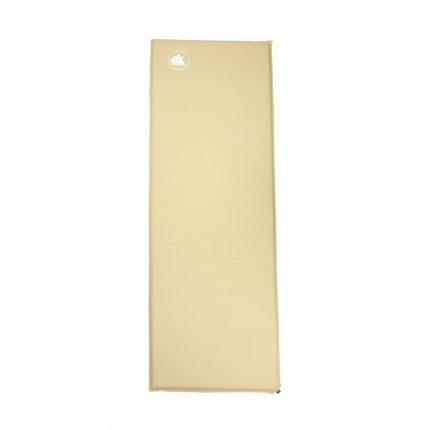 10T Sam 370 - Selbstfüllende Iso-Matte mit Messingventil beige TPU-Beschichtung 198x63x3,7cm