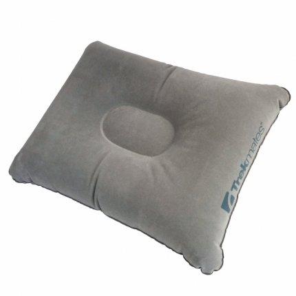 Trekmates Inflatable Deluxe Pillow - aufblasbares Kissen, Velour, hautsympathisch, weich und kuschelig, 120g, 40x30x12cm