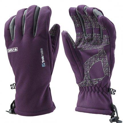 Trekmates Robinson Glove Women L - hochwertiger Soft Shell Finger Handschuh mit DRY Technologie für Frauen