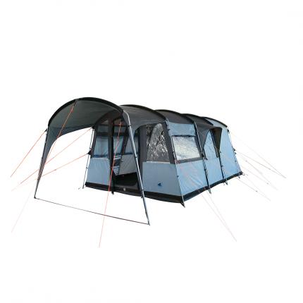 10T Bateman 4 - 4-Personen Tunnel-Zelt mit Vordach teilbare Schlafkabine Voll-Bodenwanne WS=5000mm