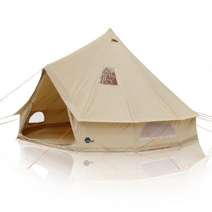 yourGEAR Desert 8 Mann Campingzelt Tipi mit Stehhöhe Familienzelt aus Baumwolle mit Bodenwanne und UV50+ Schutz