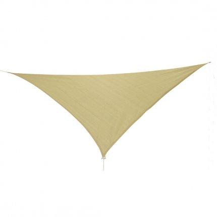 10T Emerson 360 - Dreieckiges Sonnensegel Tarp 360cm Strickgewebe 90% UV-Schutz