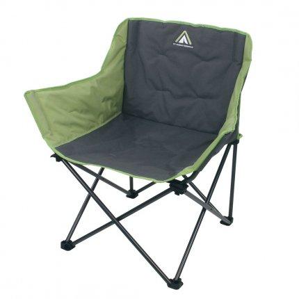 10T Campingstuhl Jace Beechnut XXL Klappstuhl bis 130 kg Stuhl mit Getränkehalter + Seitentasche