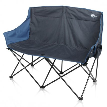yourGEAR Bari XL Campingstuhl - großes und bequemes 2 Mann Camping-Sofa - Outdoor Klappstuhl mit 2 Getränkehaltern