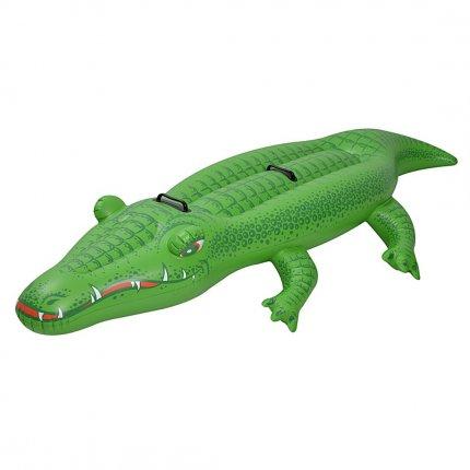 Jilong Krokodil XL Schwimmtier 200x100 cm 2 Mann Reittier Wasserspielzeug 2 Haltegriff Luftmatratze
