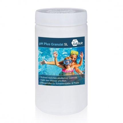 yourGEAR 1 kg pH Plus Granulat SL schnelllöslicher pH Heber zur optimalen ph-Wert Stabilisierung des Pool-Wassers