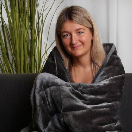 yourGEAR Therapiedecke 9kg schwere Gewichtsdecke für Erwachsene, beruhigende Anti-Stress Tagesdecke, 135x200cm Bettdecke